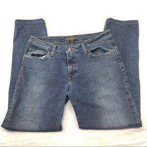 HUDSON straight fit women's blue jeans made in USA